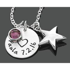 Eine besondere Geburtskette für Mama oder Kind. An der 925 Sterling Silberkette…