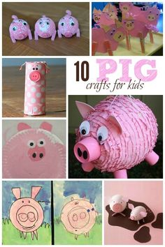 10 Pig Crafts for Kids - Housing a Forest - farm animal crafts