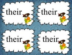 Pirate Homophones:  Theyre, There, and Their.  Free Activity.