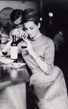 Maggie Tabberer at the 'Bistro' Sydney photo Helmut Newton Australia 1961