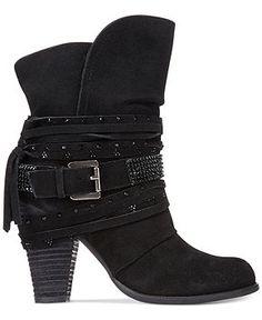 Naughty Monkey Santa Anna Rhinestone Cowboy Booties - Booties - Shoes - Macy's