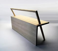 Really simple bench design - but is really eye catching.