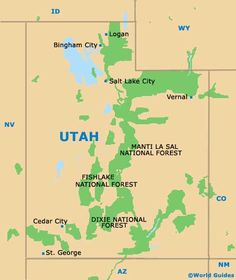 Utah US Attractions Click on the map or select from the list
