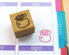 Planner stamps for your planner ! stamp size: Length x Width x design size: Length x width This is high quality stamp made in Japan. The detail is so clear and easy and fun to use:-) Great for your…. Kikki K Planner, Erin Condren Life Planner, Filofax, Japanese Stamp, Planner Supplies, Stamp Making, Hobonichi, Sticky Notes, Stationery