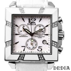 Have a Great Bargain With White DEDIA  Watch with Diamonds