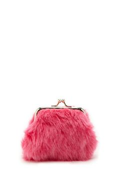 e8c821451c Faux Fur Coin Purse | Forever 21 - 1000194193 Clothing Stores, Maya, Hot  Pink
