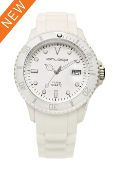 IonLoop Store - White Ion Time Smart Sport Watch, $80.00 (http://www.ionloop.com/white-ion-time-smart-sport-watch/)