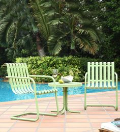 Gracie Metal Outdoor Conversation Seating Set with 2 Chairs and Side Table in Caribbean Blue (Gracie 3 Piece Metal Outdoor Conversation Set), Crosley Furniture, Patio Furniture (Aluminum) Metal Chairs, Patio Chairs, Outdoor Chairs, Outdoor Decor, Rattan Chairs, Outdoor Spaces, Outdoor Living, Arm Chairs, Lounge Chairs