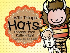 Cutest freebie ever $0.00! Adorable Wild Thing teacher and student hats!