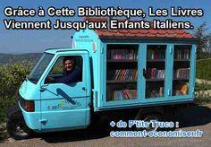 Cette Adorable Bibliothèque Roulante Apporte des Livres aux Enfants en Italie.