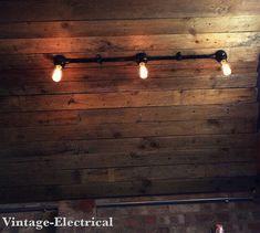Industrial black enamel solid metal conduit by VintageElectrical