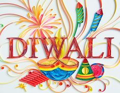 A commissioned greeting to mark the celebration of the Indian festival 'Diwa. Diwali Cards, Diwali Greetings, Diwali Wishes, Happy Diwali, Quilling Letters, Quilling Cards, Paper Quilling, Handmade Birthday Cards, Greeting Cards Handmade