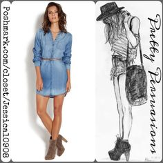 NWT Chambray Button Front Belted Shirt Dress NWT Chambray Button Front Belted Shirt Dress  Labeled Size: Large ~ Fits a M/L Measurements available upon request   • Take on the denim trend with this faded, button-down shirt dress. It also features a belted waist that makes it perfect for casual wear. Add some worn-in booties and go!   ** More photos coming soon **   Bundle discounts available  No pp or trades Boutique Dresses
