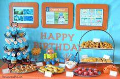 Ocotnauts Birthday Party Decorations. Love the birthday kid creature report.