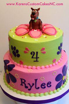 Girly Scooby-Doo cake