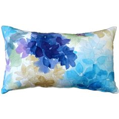 Pillow Decor May Flower Blue Throw Pillow 12X20 ($40) ❤ liked on Polyvore