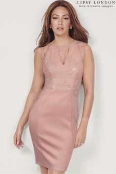 Lipsy Love Michelle Keegan Sequin Appliqué Bodycon Dress