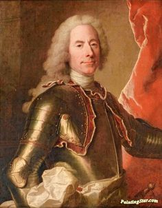 Portrait of a Man Wearing an Armor Artwork by Hyacinthe Rigaud