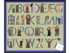 Its almost time for Season 7 of Game of Thrones on HBO! Are you ready to see what will happen to our favorite characters in Westeros? This is an obvious artistic interpretation of fictional characters of George r.r. Martins work on Game of Thrones. I hope you enjoy it! THIS IS A DIGITAL PDF FILE ONLY! This includes 5 patterns to choose from! Characters: A= Arya Stark, B= Brienne of Tarth OR Bronn, C= Cersei Lannister, D= Daenerys Targaryen, E= Eddard Stark, F= Ro...