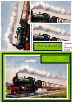 The Northbound steam train Pyramid  on Craftsuprint - Add To Basket!