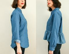 I'm always looking for easy to wear wardrobe pieces that can be dressed up or down and the ruffle bottom shirt fits the bill. I've been eyeing off some pretty nice ones at Gorman, but at $150 they are a little too pricey for me, especially when I can make one myself in an afternoon. I picked up a nice chambray shirt a few weeks ago at Vinnies for $8 and thought it would be perfect for a refashion session. The shirt was ok, I love the colour and how it fits on top, but the length was…