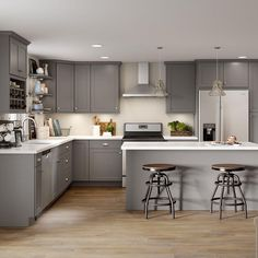 Home Depot Kitchen, New Kitchen, Home Kitchens, Kitchen Decor, Kitchen Ideas, Grey Kitchens, Awesome Kitchen, Kitchen Trends, Kitchen Hacks