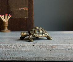Brass Tortoise match striker. Figure of a by WeFoundThisToday