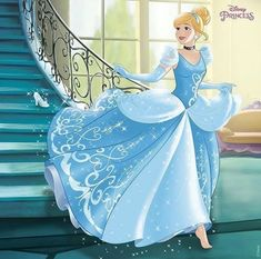 Cinderella running down the stairs and left behind her glass slipper Disney Princesses And Princes, Disney Princess Cinderella, Disney Princess Drawings, Disney Princess Pictures, Disney Drawings, Disney Girls, Disney Love, Disney Magic, Disney Art