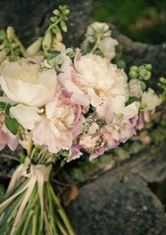 peony bridal bouquet   photos by Gary Ashley with the Wedding Artists Collective   100 Layer Cake