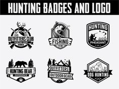 120 Adventure Badges and Logo Bundle Creative Logo Templates - Modern Hunting Outfitters, Retirement Invitation Template, Font Names, Christmas Templates, Freelance Graphic Design, Creative Logo, Modern Logo, Logo Templates, The Help