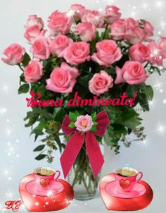 Good Morning, 3d, Table Decorations, Night, Garden, Coffee Time, Roses, Italia, Good Day