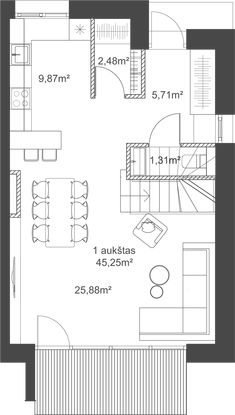 24 Istorijos | Poilsio dienos - 24 Istorijos Beach Cottage Style, Small Places, Baby Steps, Small House Plans, Small Apartments, Planer, Tiny House, Beach Cottages, Floor Plans
