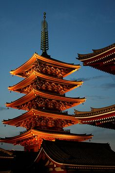 Tokyo, Japan. This is a pagoda, they are included in my architecture history test coming up.