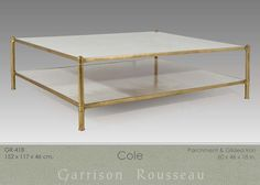 Garrison Rousseau Low Tables » Garrison Rousseau shagreen coffee table