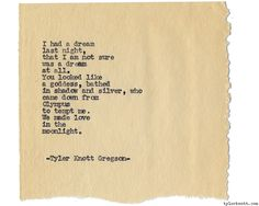 Typewriter Series #1200 by Tyler Knott Gregson*Chasers of the Light, is available through Amazon, Barnes and Noble, IndieBound , Books-A-Million , Paper Source or Anthropologie *
