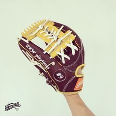 Natural yellow x Brown - perfect glove for your autumn ball!   Gloveworks is your custom baseball glove maker. You design it, we make it. Visit gloveworks.net to build your own!   #BringItHome #Gloveworks #baseball #baseball_glove #customglove