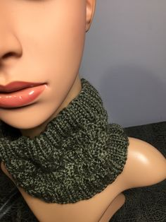"Dark Taupe Handknit Unisex Neckwarmer, Fits Necks 16-20"", Height 5"", Soft Acrylic Yarn, Machine Wash and Dry, Fast Shipping Wash N Dry, Taupe Color, Neck Warmer, Hand Knitting, Unisex, Dark, Fitness, Etsy"
