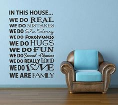 In This House  15 X 23 Vinyl Lettering custom by itswritteninvinyl, $19.00