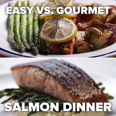 Featuring Easy Salmon Dinner and Gourmet Salmon Dinner Salmon Recipes, Fish Recipes, Seafood Recipes, Dinner Recipes, Cooking Recipes, Healthy Recipes, Cooking Ham, Easy Cooking, Salmon Dinner