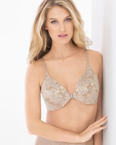 accb8ef549 Unlined front closure Floral Lace