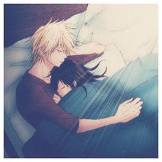 Anime Kuss - Trend Home - Trending Pins Anime Couples Cuddling, Anime Couples Sleeping, Anime Couples Hugging, Anime Couples Drawings, Anime Couples Manga, Anime Girls, Kawaii Anime, Anime Cupples, Anime Tumblr