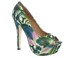 Fashionable ladies' shoe  Floral print upper  $39