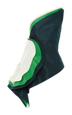Green Ultrafine Silk Faille O'Keeffe Top by Rosie Assoulin Now Available on Moda Operandi