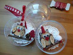 Boules de Noël Hibou