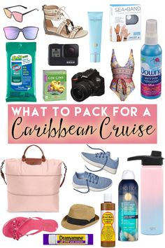 Are you heading to the Caribbean on a cruise? From outfits youll need to sun care and motion sickness relief these are the best things to pack for your Caribbean cruise! Packing List For Cruise, Cruise Travel, Cruise Vacation, Packing Tips, Bahamas Cruise, Honeymoon Cruise, Disney Cruise Tips, Vacation Nails, Hollywood Party
