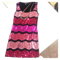 Sequined sparkly tank tunic Super sparkly patterned Forever 21 Dresses Mini