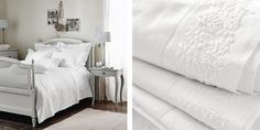 Adeline Bed Linen Collection - White