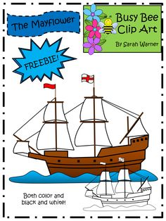 FREE clip art from Busy Bee Clip Art! The Mayflower ship. Grab this freebie to use with your Thanksgiving products.