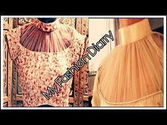 Is video me ap high neck blouse aur designer neck ka step by step tutorial dekhenge. Blouse Designs High Neck, Neck Designs For Suits, Neckline Designs, Fancy Blouse Designs, Saree Blouse Designs, High Neck Saree Blouse, Kurti Neck, Blouse Dress, Long Kurti Patterns