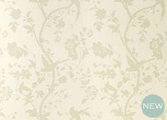 Oriental Garden Natural Floral Wallpaper | Laura Ashley